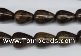 CBZ412 15.5 inches 10*14mm teardrop bronzite gemstone beads