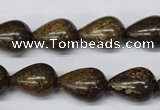 CBZ413 15.5 inches 12*16mm teardrop bronzite gemstone beads
