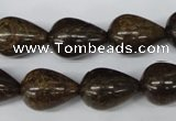 CBZ415 15.5 inches 15*20mm teardrop bronzite gemstone beads
