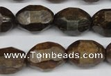 CBZ418 15.5 inches 13*18mm faceted nuggets bronzite gemstone beads