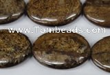 CBZ422 15.5 inches 22*30mm oval bronzite gemstone beads