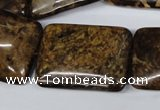 CBZ424 15.5 inches 22*30mm rectangle bronzite gemstone beads