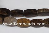 CBZ426 15.5 inches 10*14mm flat drum bronzite gemstone beads