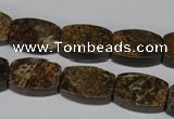 CBZ427 15.5 inches 12*16mm flat drum bronzite gemstone beads