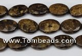 CBZ436 15.5 inches 10*14mm faceted oval bronzite gemstone beads
