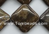 CBZ47 15.5 inches 25*25mm diamond bronzite gemstone beads wholesale