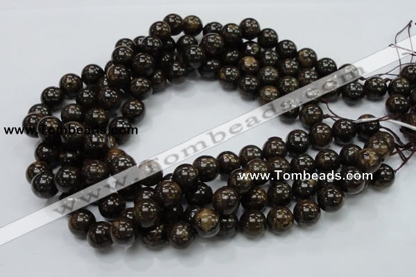 CBZ52 15.5 inches 12mm round bronzite gemstone beads wholesale