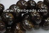 CBZ55 15.5 inches 10*15mm rondelle bronzite gemstone beads wholesale