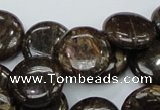 CBZ57 15.5 inches 18mm coin bronzite gemstone beads wholesale