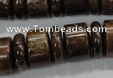 CBZ58 15.5 inches 6*18mm & 12*18mm rondelle bronzite gemstone beads
