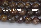 CBZ612 15.5 inches 8mm faceted round bronzite gemstone beads