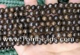 CBZ619 15.5 inches 6mm round bronzite beads wholesale