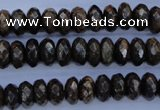 CBZ65 15.5 inches 6*10mm faceted rondelle bronzite gemstone beads