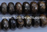 CBZ67 15.5 inches 8*16mm faceted rondelle bronzite gemstone beads