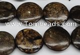 CBZ70 15.5 inches 20mm flat round bronzite gemstone beads