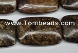 CBZ78 15.5 inches 20*30mm rectangle bronzite gemstone beads