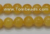 CCA06 15.5 inches 12mm round yellow calcite gemstone beads wholesale