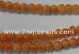 CCA301 15.5 inches 6mm round orange calcite gemstone beads wholesale
