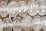 CCA367 15.5 inches 5*8mm rondelle white calcite gemstone beads