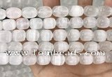 CCA380 15.5 inches 10*12mm rice white calcite gemstone beads