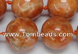 CCA458 15.5 inches 20mm round orange calcite gemstone beads