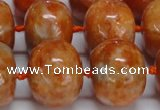 CCA461 15.5 inches 15*20mm rondelle orange calcite gemstone beads