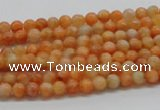 CCA50 15.5 inches 4mm round orange calcite gemstone beads wholesale