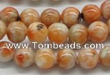 CCA52 15.5 inches 10mm round orange calcite gemstone beads wholesale