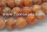 CCA53 15.5 inches 12mm round orange calcite gemstone beads wholesale