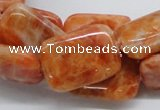 CCA59 15.5 inches 18*25mm rectangle orange calcite gemstone beads