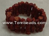 CCB101 7.5 inches Vagarious coral bracelet jewelry wholesale
