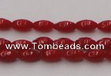 CCB130 15.5 inches 3*6mm rice red coral beads strand wholesale