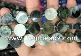 CCB506 15.5 inches 16mm coin jade gemstone beads wholesale