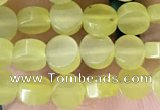CCB514 15.5 inches 6mm coin lemon jade beads wholesale