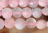 CCB544 15.5 inches 6mm faceted coin morganite gemstone beads
