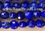CCB554 15.5 inches 6mm faceted coin lapis lazuli beads wholesale