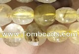 CCB611 15.5 inches 6mm faceted coin citrine gemstone beads