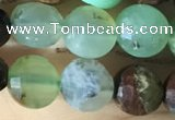 CCB612 15.5 inches 6mm faceted coin Australia chrysoprase beads