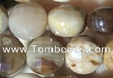 CCB622 15.5 inches 6mm faceted coin wood jasper gemstone beads
