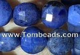 CCB623 15.5 inches 6mm faceted coin blue dumortierite beads