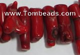 CCB65 16 inches irregular red coral beads Wholesale