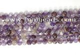 CCB764 15.5 inches 8mm faceted coin purple phantom quartz  beads