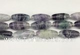 CCB781 15.5 inches 15*38mm – 16*40mm rice fluorite  beads