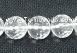 CCC256 15.5 inches 16mm faceted round grade A natural white crystal beads