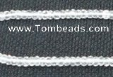 CCC268 2*4mm faceted rondelle grade A natural white crystal beads