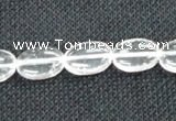 CCC270 15 inches 10*14mm oval grade A natural white crystal beads