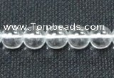 CCC280 15.5 inches 14mm round A grade natural white crystal beads