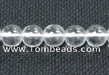 CCC281 15.5 inches 16mm round A grade natural white crystal beads