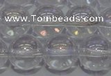 CCC402 15.5 inches 8mm round AB-color white crystal beads