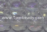 CCC403 15.5 inches 10mm round AB-color white crystal beads